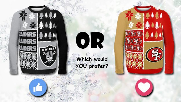 Sports 1140 Khtk On Twitter Which Ugly Christmas Sweater Would