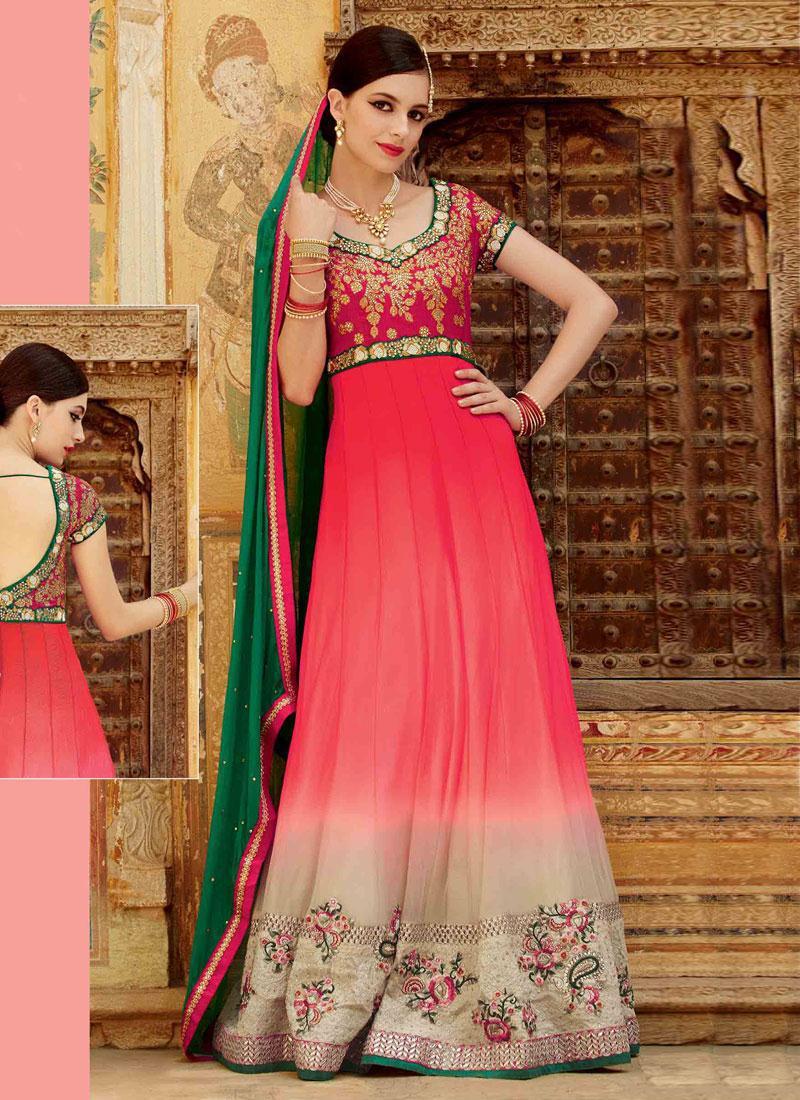 Punjabi Suits On Twitter Coral Colored Elegant Chiffon Designer