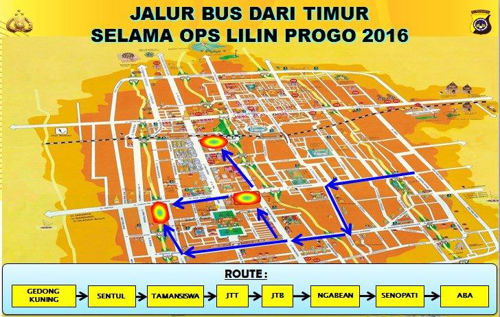 Rekayasa arus lantas Ops Lilin Progo 2016 Kota Yogyakarta dari arah TIMUR2