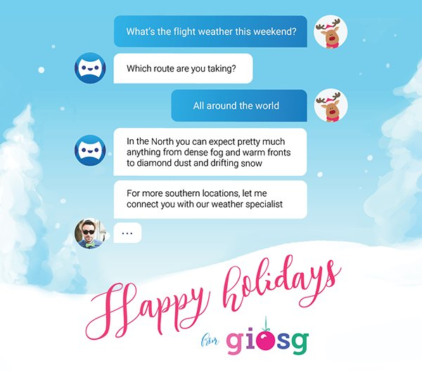 Giosg live chat with AI and chatbots