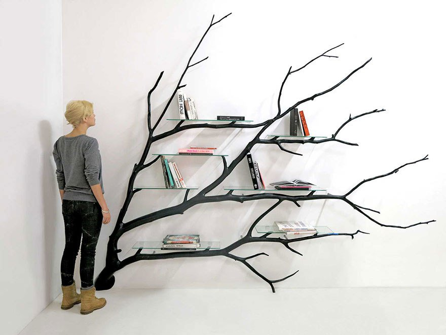 полка для книг из дерева сделать своими руками