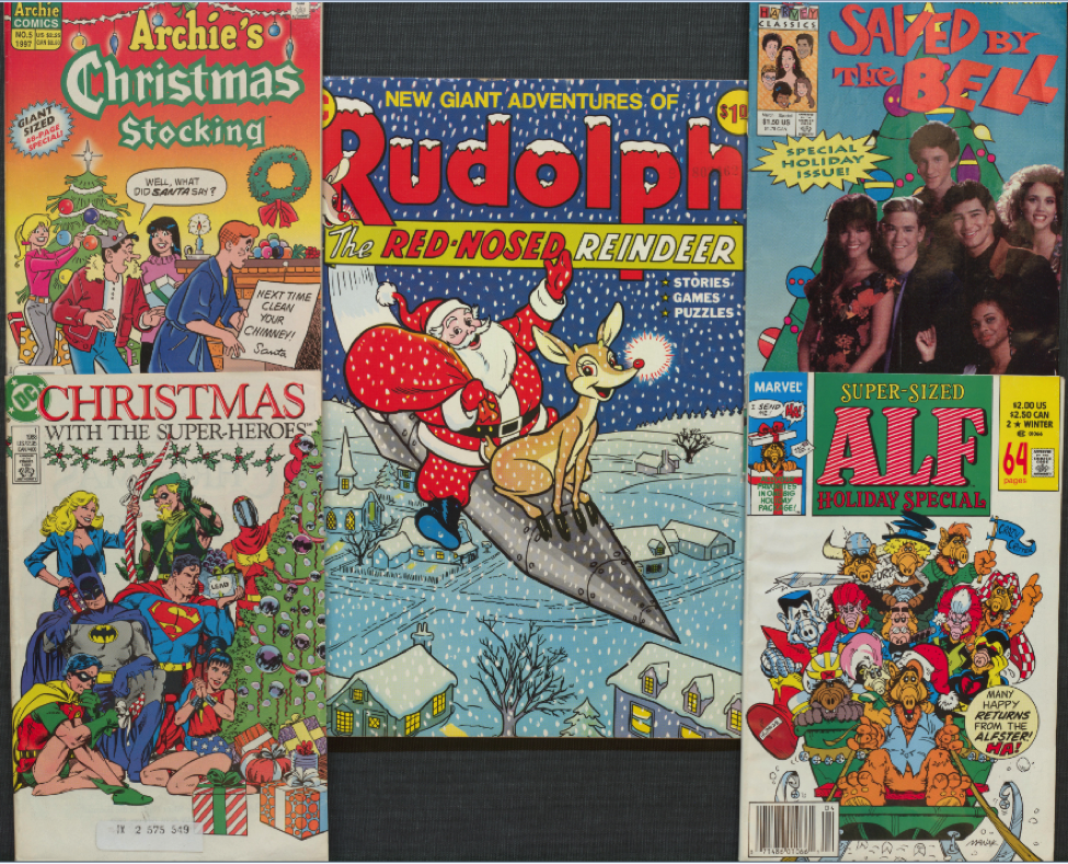 Happy Holidays, as seen on covers from our comprehensive comics collections!  https://t.co/3UT788su05 https://t.co/OljRkalni4