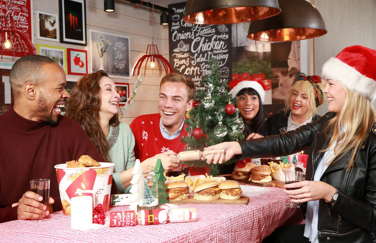"""TNR on Twitter: """"Why not shake it up a bit and have a @kfc instead of turkey this year? Here's a shoot we did for KFC recently. #KFC #Christmas #FastFood… ..."""