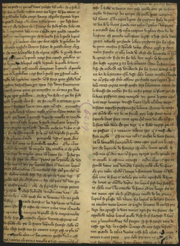 """Fragmento de duas páginas de um comentário sobre a """"Divina Comédia"""" de Dante (c1350-1400): https://t.co/0XynqQe4VH https://t.co/0TlK2sFA6B"""