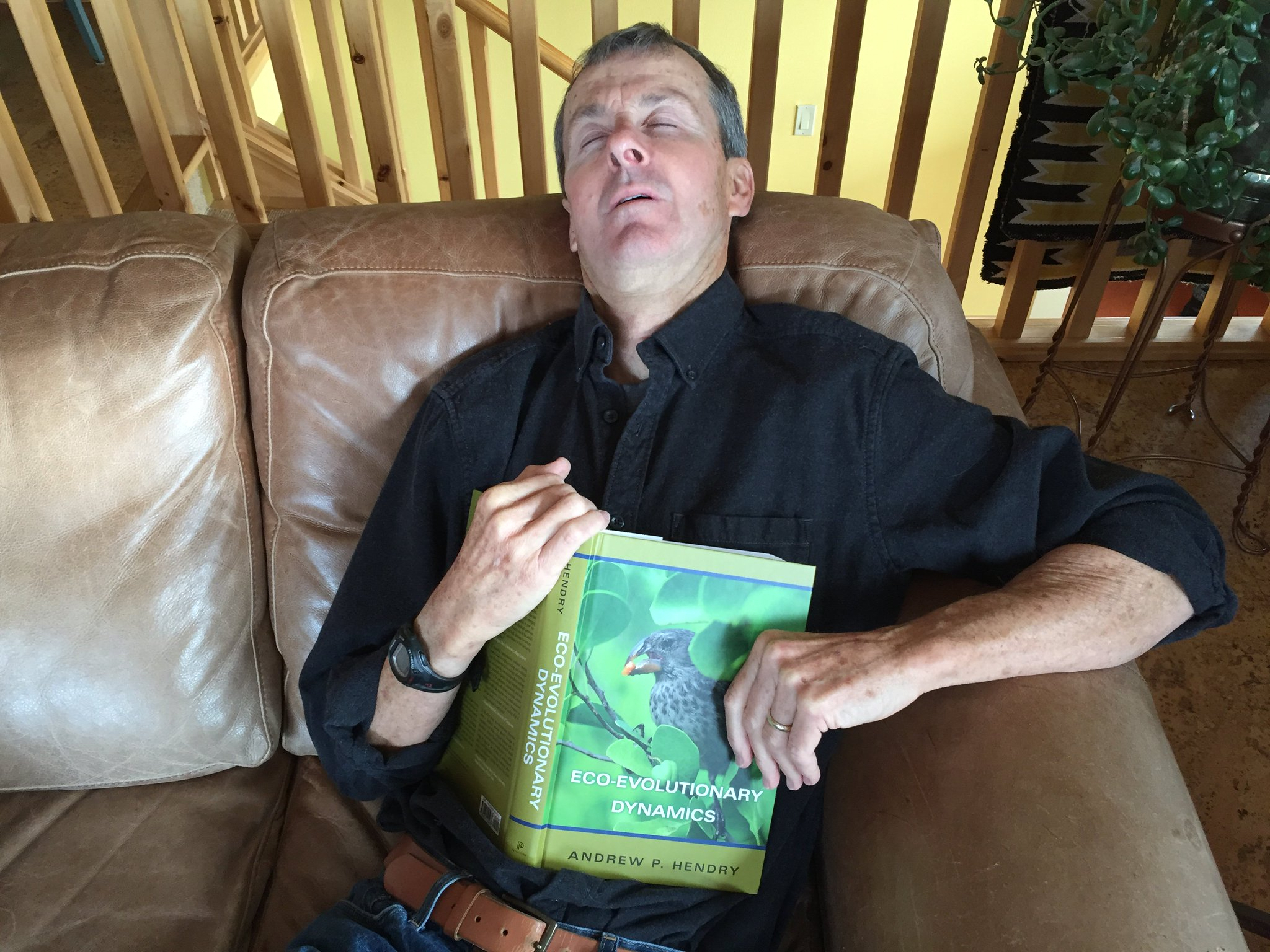 #PeopleWhoFellAsleepReadingMyBook Craig Benkman! He commented on several chapters in draft form, so a little shut-eye now is to be excused. https://t.co/7hAdlcQwhT