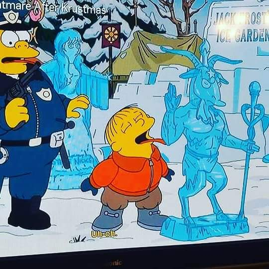 The Simpson's referenced @satanicpsalms in last night's episode. Cc @mofgimmers @OrlaDoherty https://t.co/ODdHrIh9G9