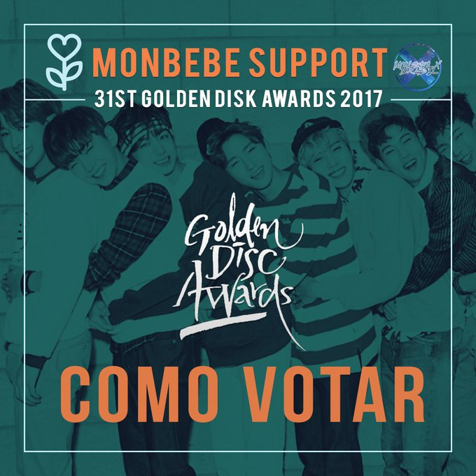 [#TUTORIAL|#VOTO] 31st Golden Disk Awards 2017