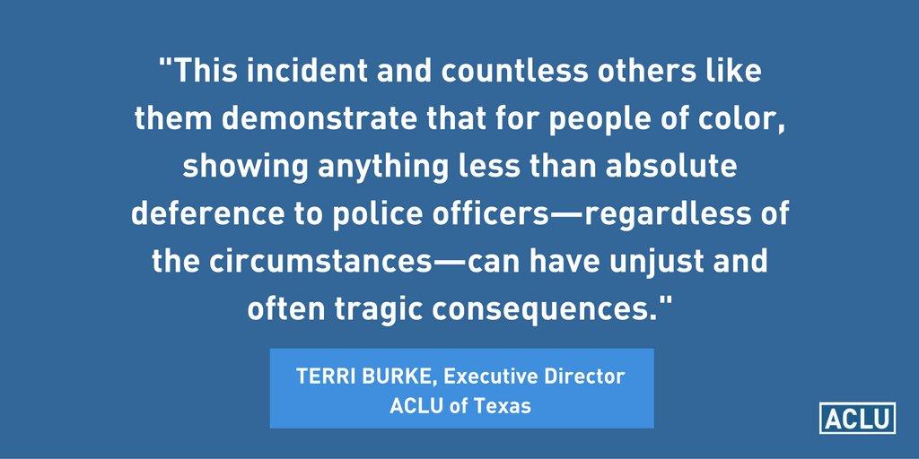 Our statement on the Fort Worth incident: https://t.co/NgYAnJ8e3V #SmartOnCrime #BlackLivesMatter https://t.co/0eMdBHDEP7