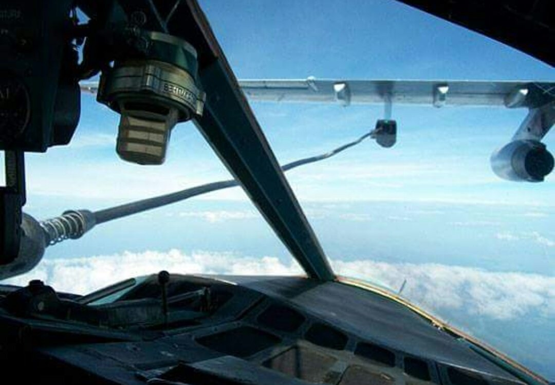 Ten Russian Baltic Fleet Su-24M crews exercised aerial refuelling from Il-78 tanker aircraft