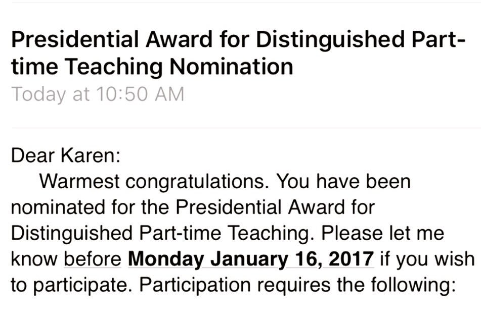 I'm Karen Zgoda, just nominated today! Instructor @BridgeStateU & @SimmonsMSW #swtech #MacroSW & #SEQuEL2017 #mylifeinhashtags https://t.co/AjGvApsYE5