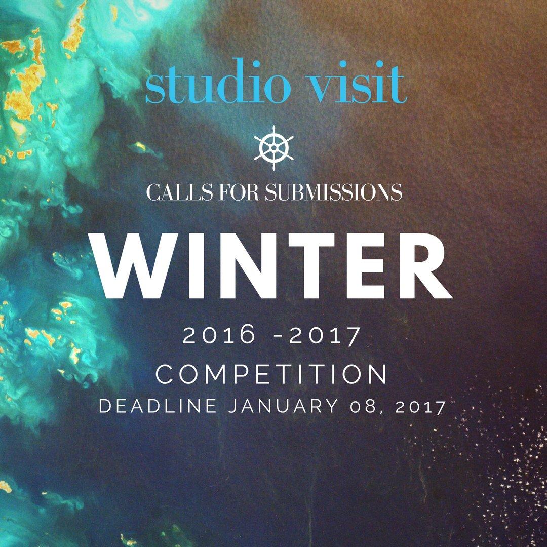 Studio Visit - Winter 2016-2017 Competition! - DEADLINE JANUARY 08, 2017 https://t.co/x6VSy1vSTl https://t.co/DBvosroApb
