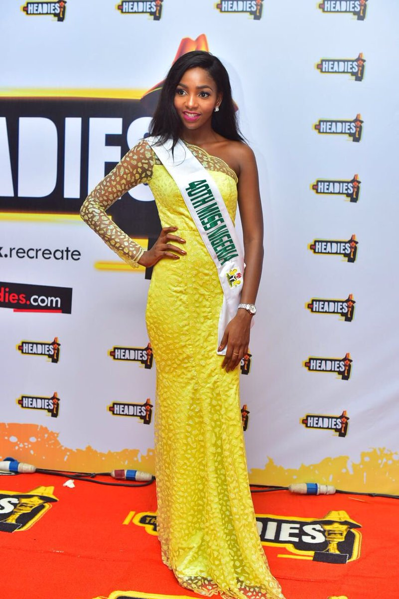 Newly Crowned Miss Nigeria At #TheHeadies2016