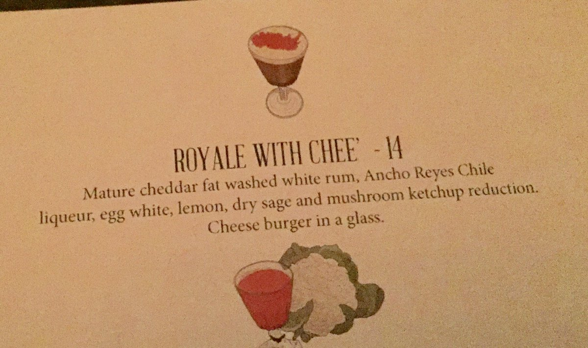What on earth is mature cheddar fat washed rum and why is it in a cocktail? cc/ @bermsville https://t.co/S0xC6JGLtx