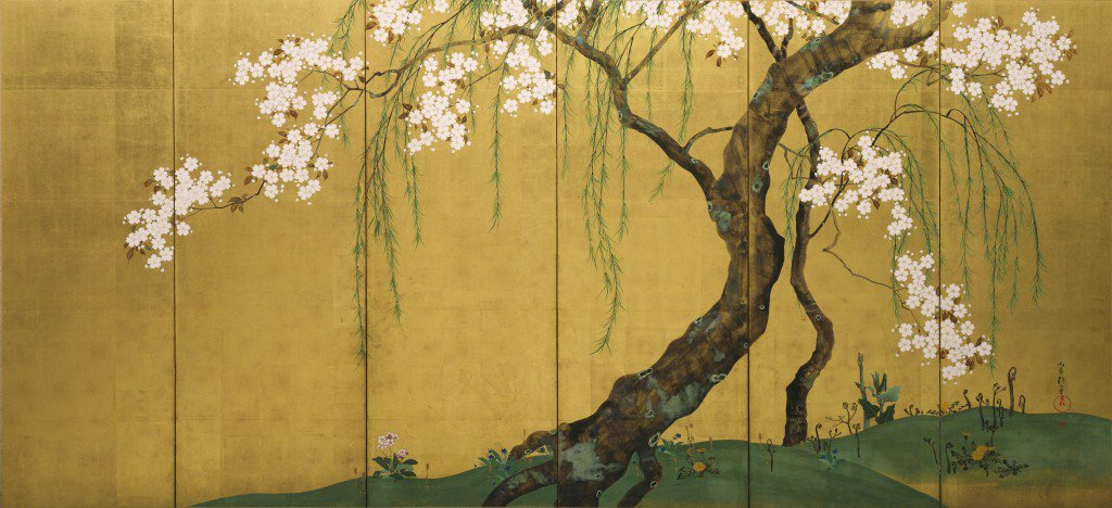 """Not knowing the name of the tree, I stood in the flood of its sweet scent.""  Basho Matsuo (image: Korin Ogata) https://t.co/sT2Dgmx7xK"