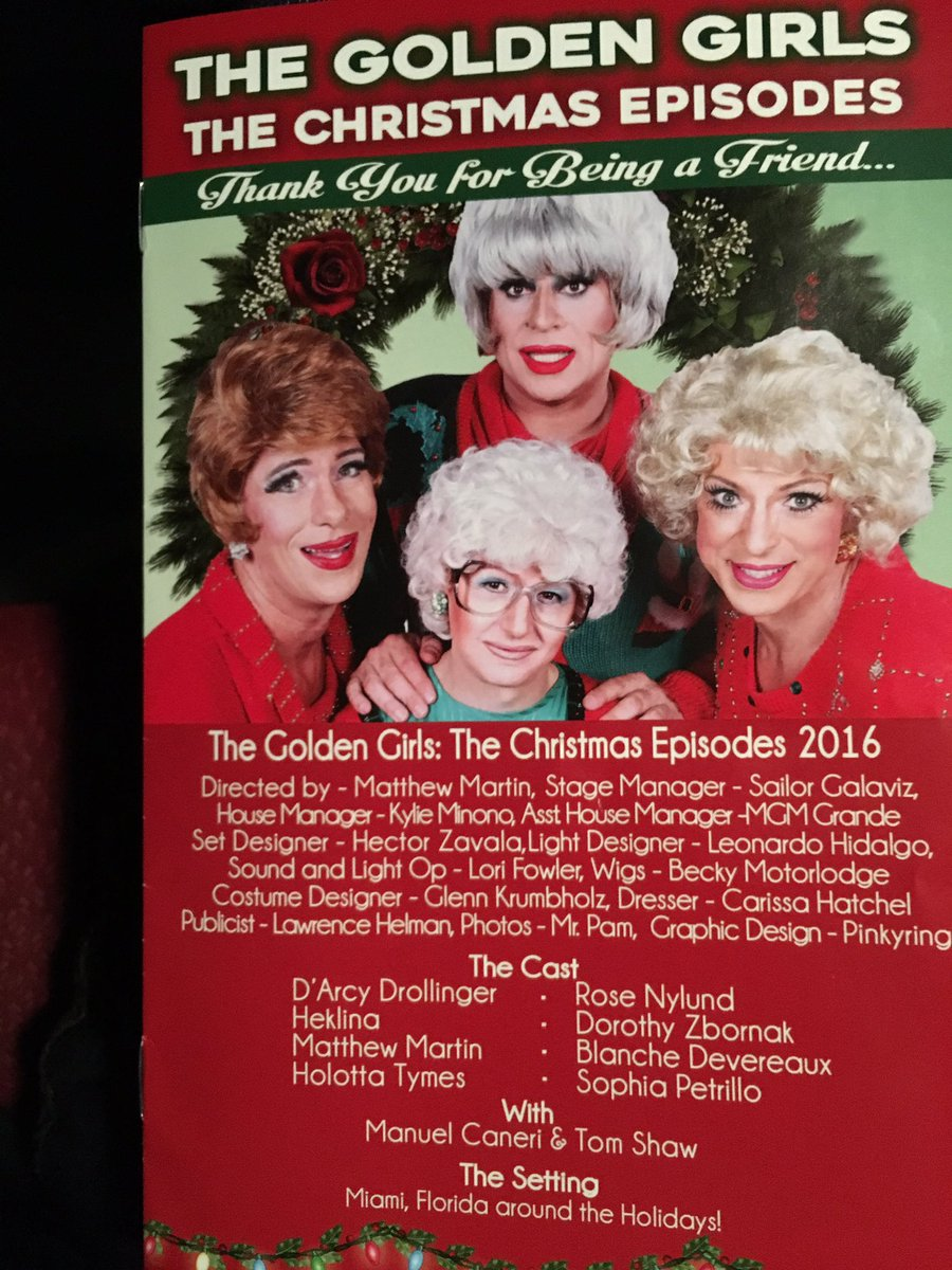 arash komeili on twitter excited to see the golden girls live - A Golden Christmas Cast