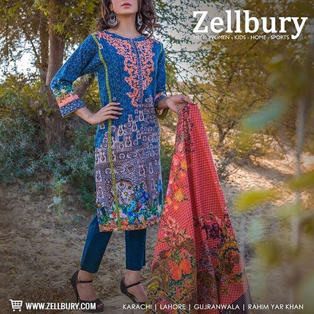 Zellbury On Twitter This 3 Piece Design Features An Embroidered Khaddar Shirt With Digitally Printed Dupatta And Cambric Pants Zellbury Unstitched Collection Https T Co Sgqebjclzt