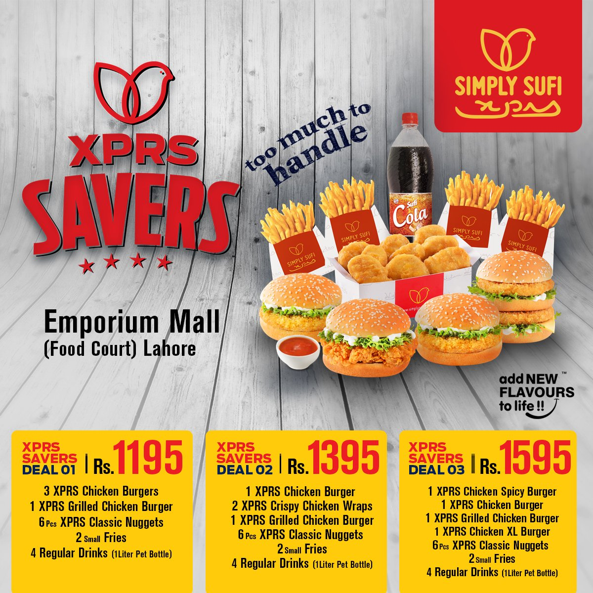 Simplysufixprs On Twitter Now Enjoy Our Three Amazing Xprs Savers Deals Simplysufixprs Emporiummall Lahore Xprssavers Winterdeals