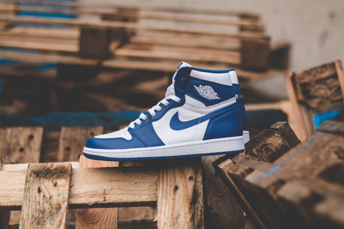 """3e8e40b2aec9c7 Nike Air Jordan 1 Retro High OG """"Storm Blue"""" is available to buy ONLINE  now!  hanon  nike  airjordan1 ..."""