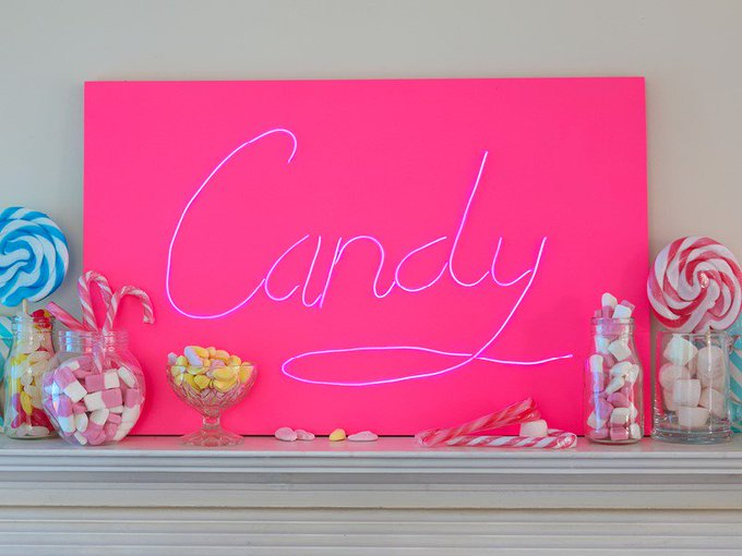 How to create a DIY neon sign