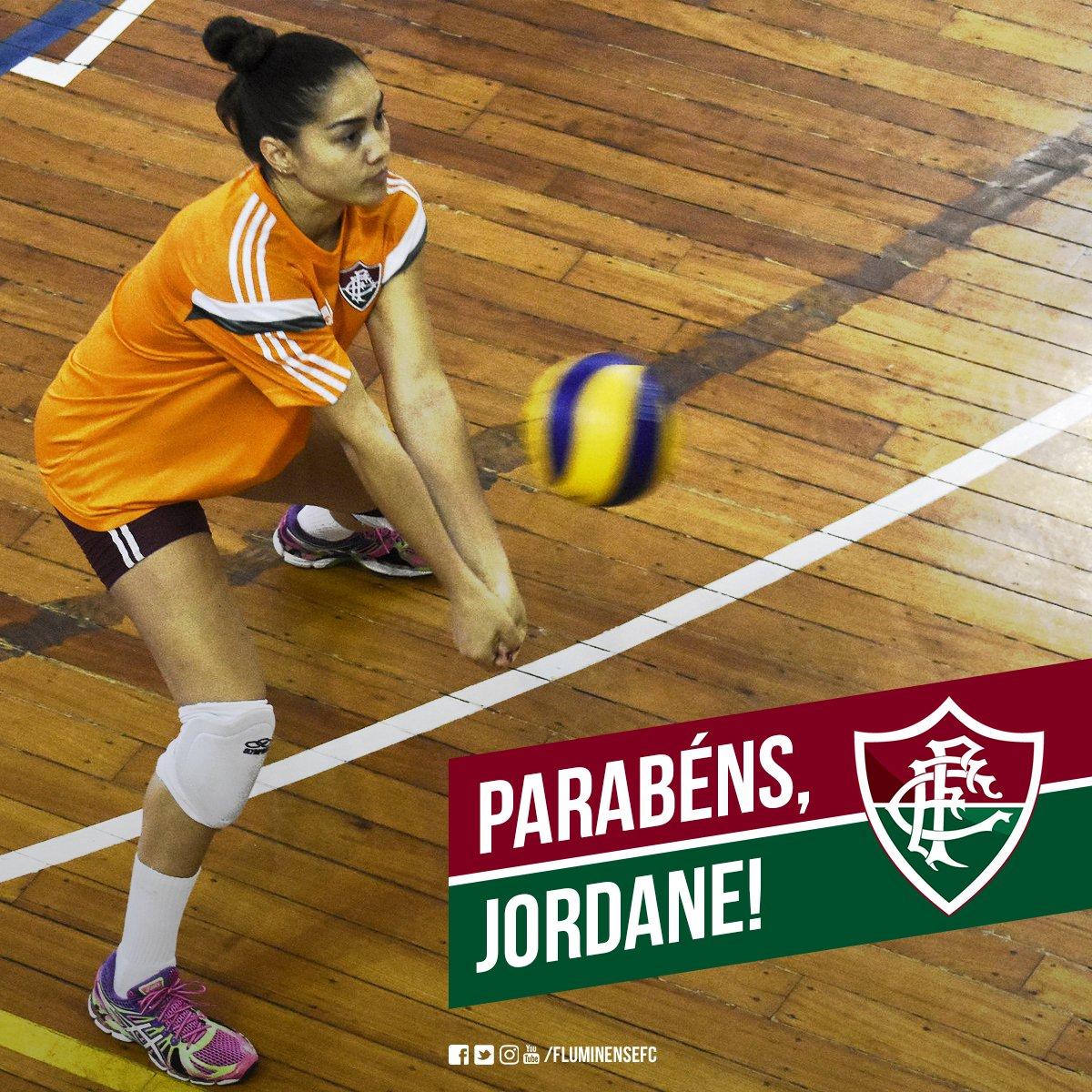 Hoje é aniversário da levantadora Jordane Tolentino! Parabéns, guerreira! #SomosFluminense