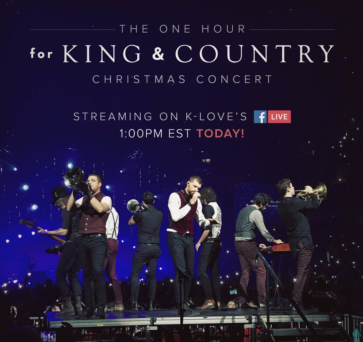 for king country on twitter keep an out for this today streaming via facebooklive on kloveradio 100pm est httpstcoy8xdspafp3 - For King And Country Christmas Album