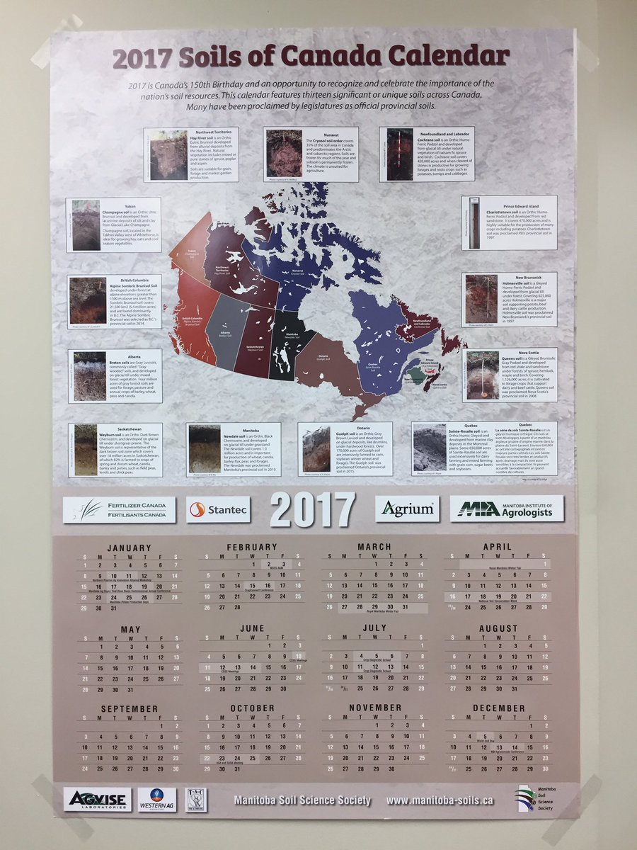 Marla riekman on twitter msss 2017 soils of canada wall calendar marla riekman on twitter msss 2017 soils of canada wall calendar is ready for distribution watch for them at ag days and the msss agm in feb gumiabroncs Images