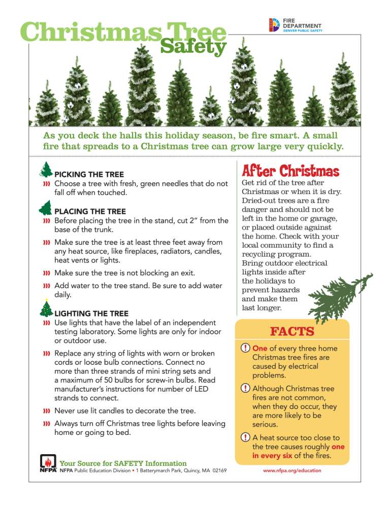 Denver Fire Dept On Twitter Keep Those Christmas Trees Well