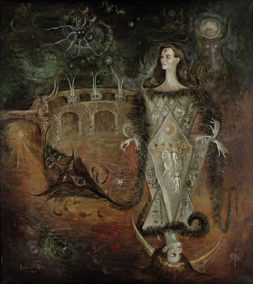 La Maja del Tarot (Oil on canvas, Leonora Carrington, 1965) https://t.co/u3Te41dBkp