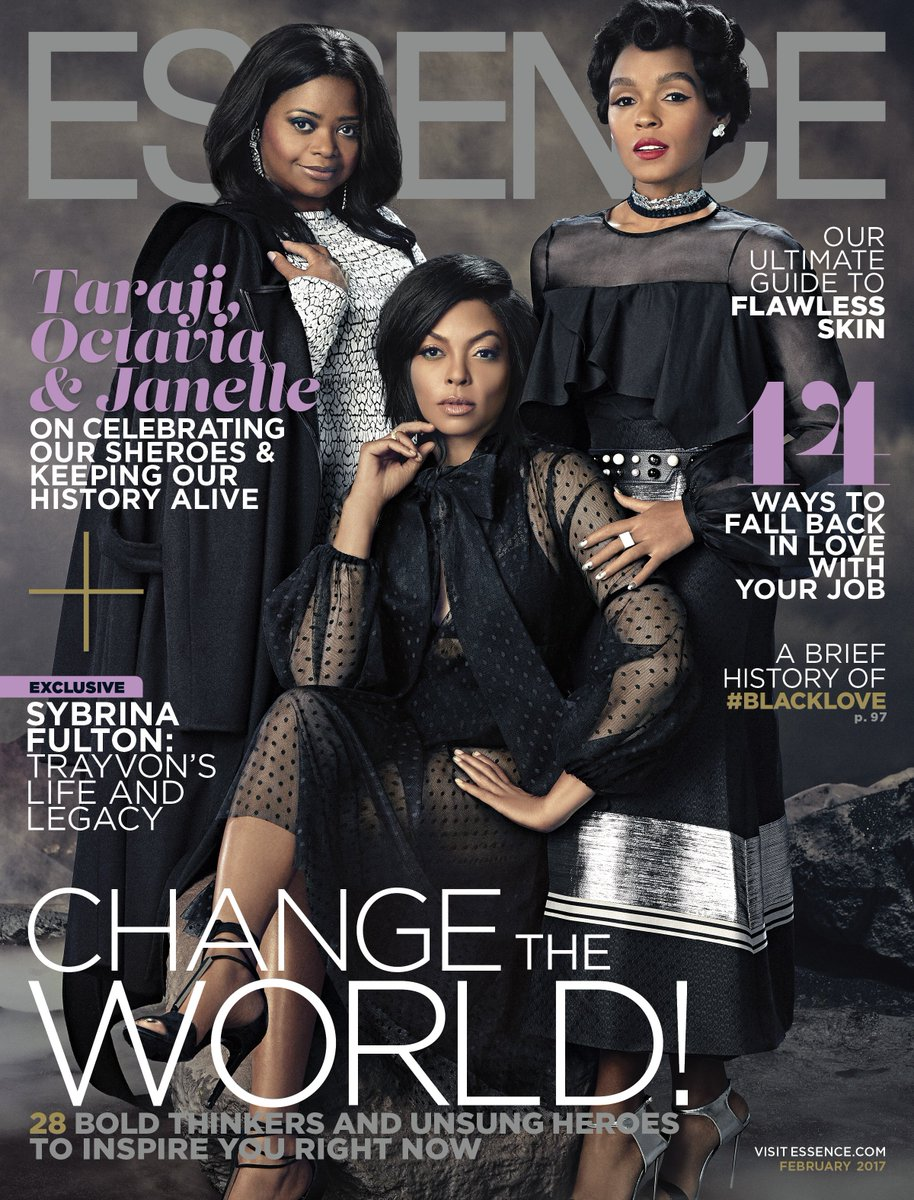 Revealing our February 2017 issue featuring 'Hidden Figures' stars @octaviaspencer, @TherealTaraji, and @JanelleMonae! Pick yours up 1/13!