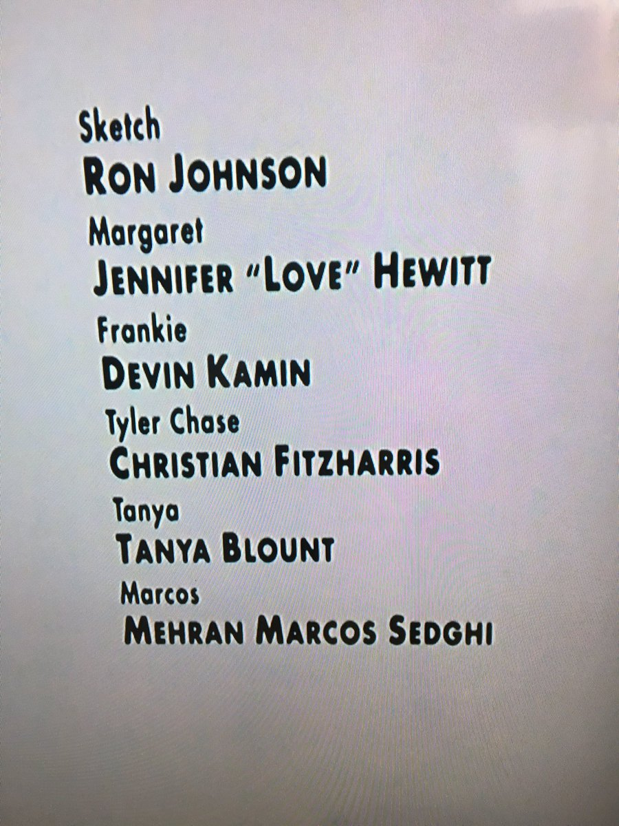 The person who compiled the credits for Sister Act 2 absolutely was not buying Jennifer Love Hewitt's name. https://t.co/C5hNdtJGB3