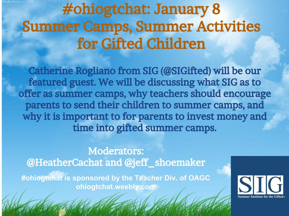 Thumbnail for #ohiogtchat: Jan. 8: Summer Camps, Summer Activities