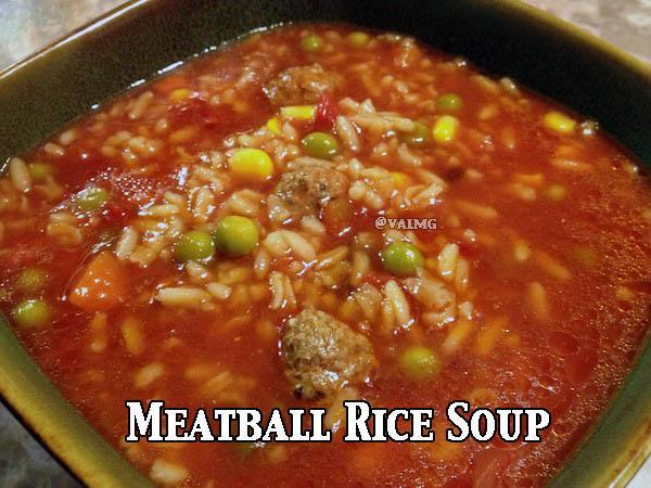 Meatball Rice Soup #Recipe