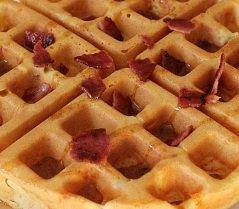 Cheddar Bacon Waffles