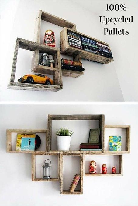 DIY Decorative Pallet Shelves for Storage