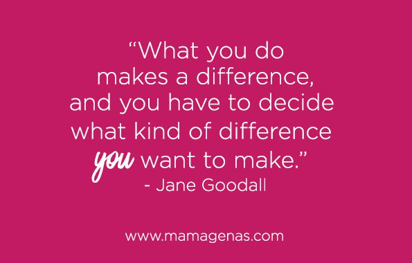 What you do makes a difference, and you have to decide what kind of difference you want to make - Jane Goodall https://t.co/JXWeQ0nvv3