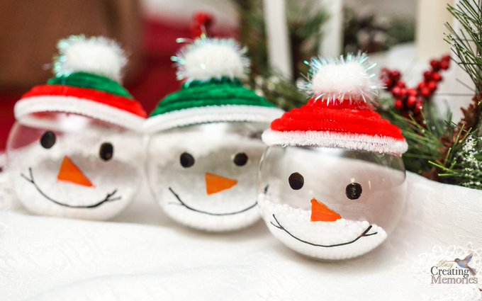 Easy Snowman Ornaments