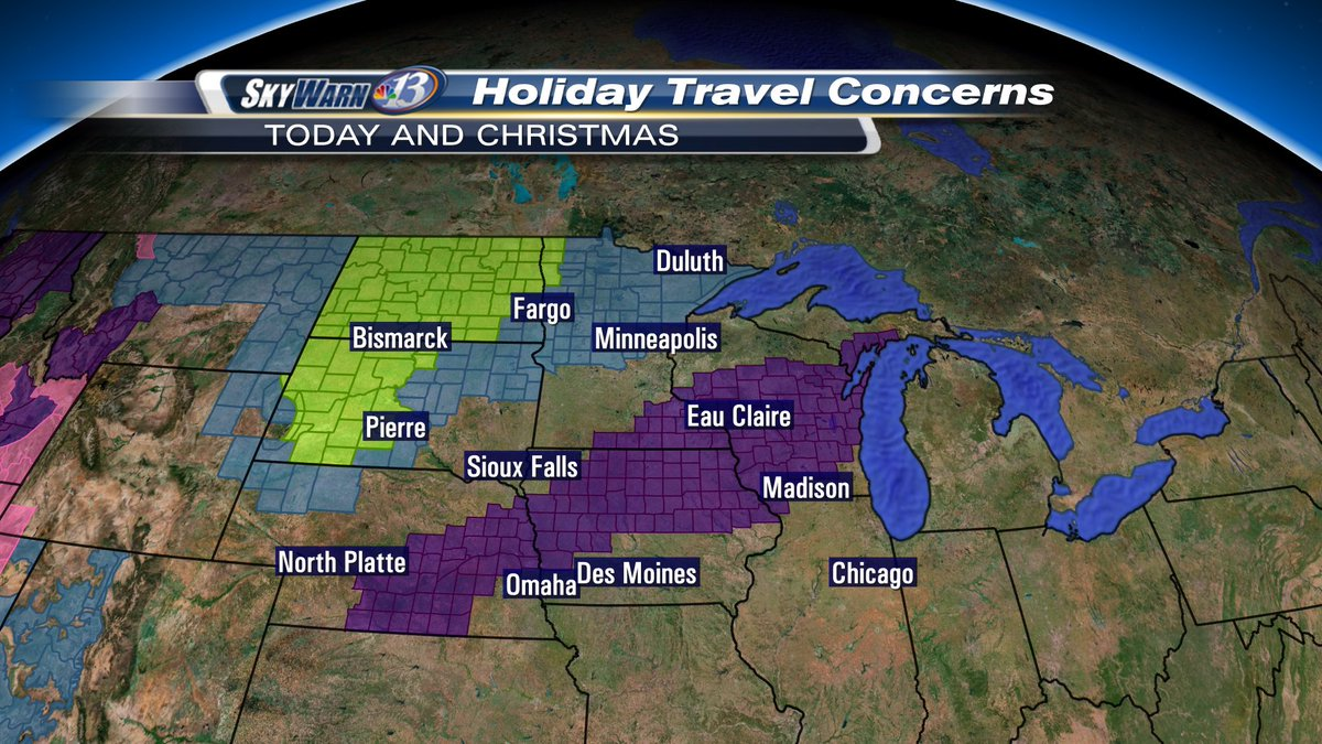 Winter Weather Snarls Holiday Travel - Us travel map weather