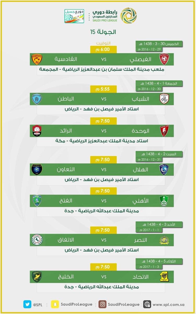 جدول ترتيب الفرق+الهدافين+صناع الأهداف+أفضل دفاع+أفضل هجوم^الجولة 14دوري جميل^