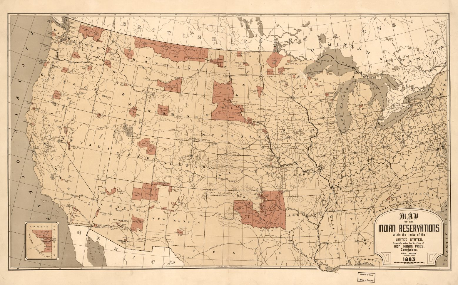 1883 map showing #NativeAmerican reservations within the #USA  https://t.co/eqkRWVN5nT https://t.co/7AY68HanH4