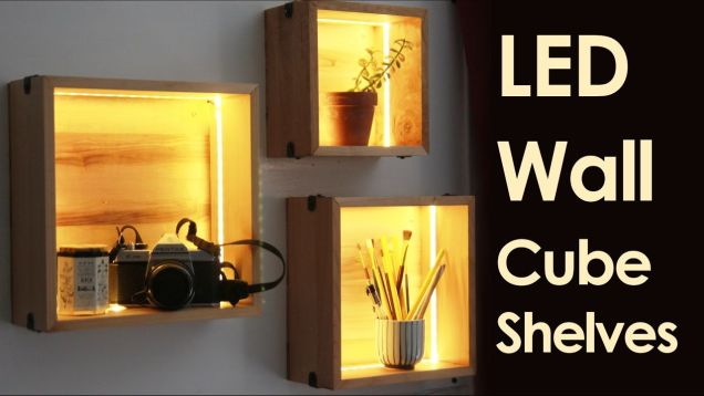Fancy Up Some Cube Shelves with LED Strips