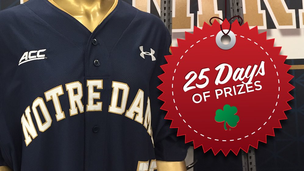 ☘️ #ND25Days OF PRIZES: @NDBaseball Day  RETWEET FOR A CHANCE TO WIN  ⚾️ @UnderArmour Jersey https://t.co/s1mwc0SmWQ