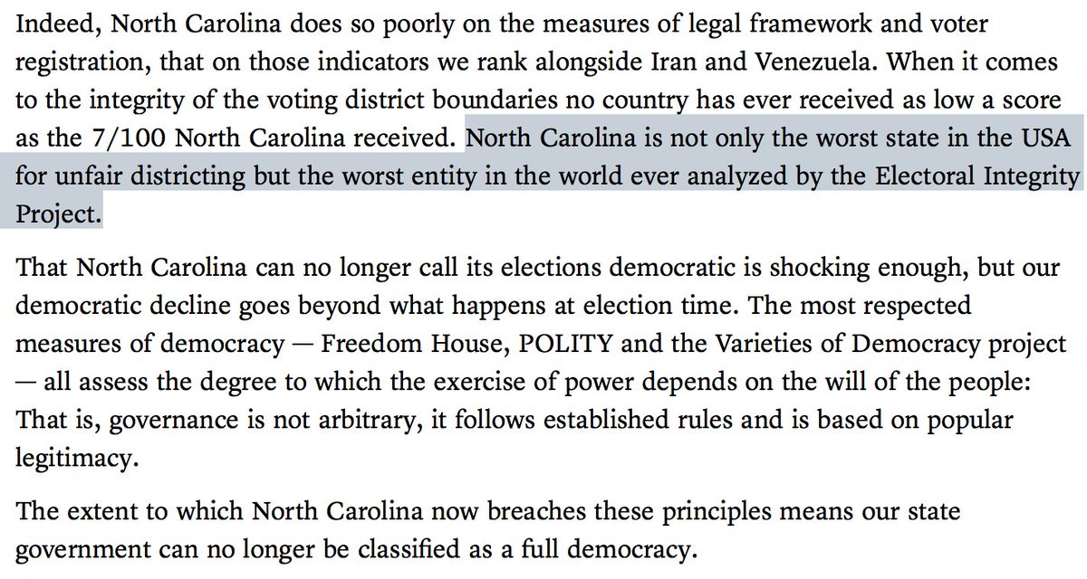 """""""...accept that in North Carolina we no longer live in a functioning democracy"""" https://t.co/bKE79iM1DY https://t.co/3S4mkEfjUG"""