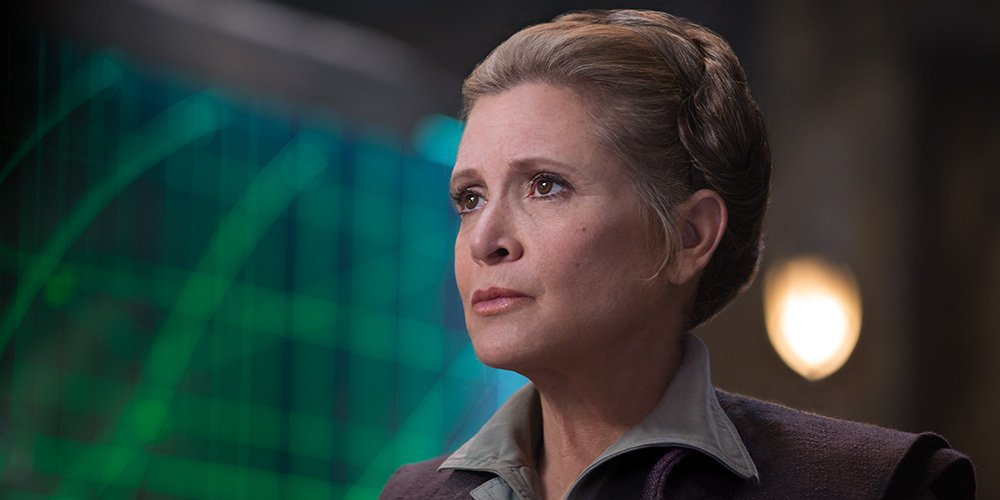 Nos pensées vont vers Carrie Fisher, qui vient de subir une crise cardiaque. Que la Force soit avec vous, Général