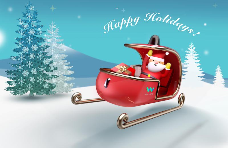 This year, Santa's getting around in a self-driving sleigh goo.gl/gfHilb #Waymo #selfdrivingsleigh