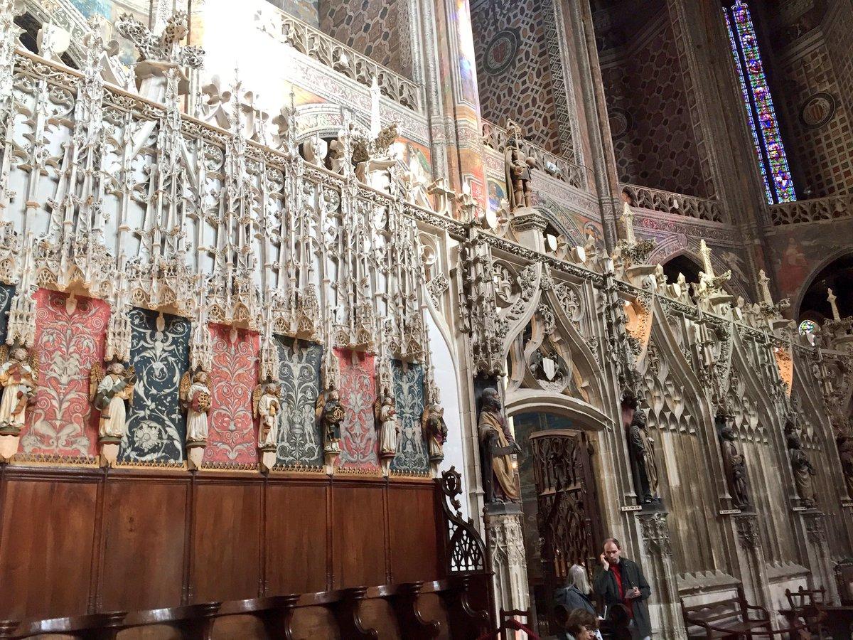 cathdrale sainte ccile dalbi chur et jub de style architectural gothique flamboyant dans un formidable tat de conservationpictwittercom - Salle Couleur Peinture Noisette Et Blanc