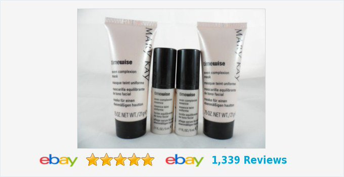 Mary Kay Timewise Even Complexion Essence & Mask Lot Of 4 Travel Size