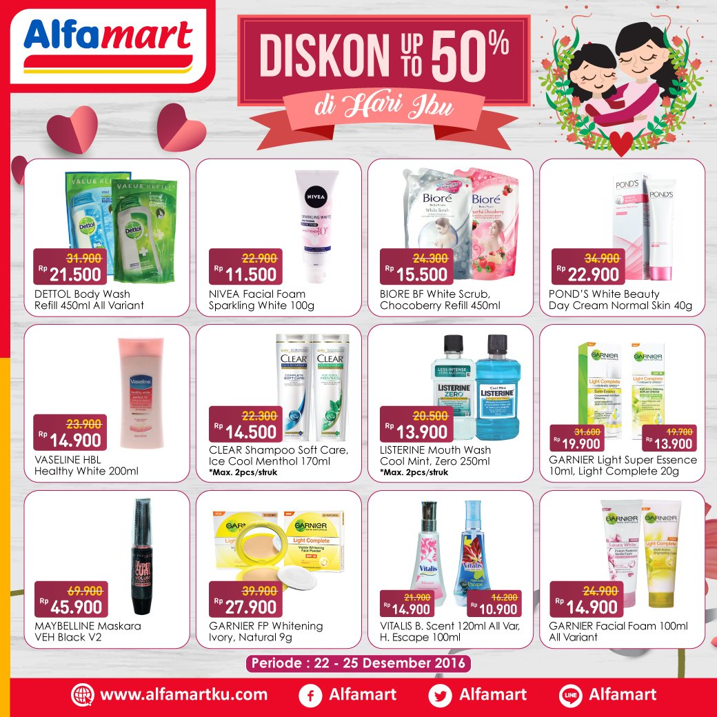 Alfamart On Twitter Dapatkan Promo Diskon Up To 50 Di Hari Ibu Info Klik Https T Co Pxlalgx8h6