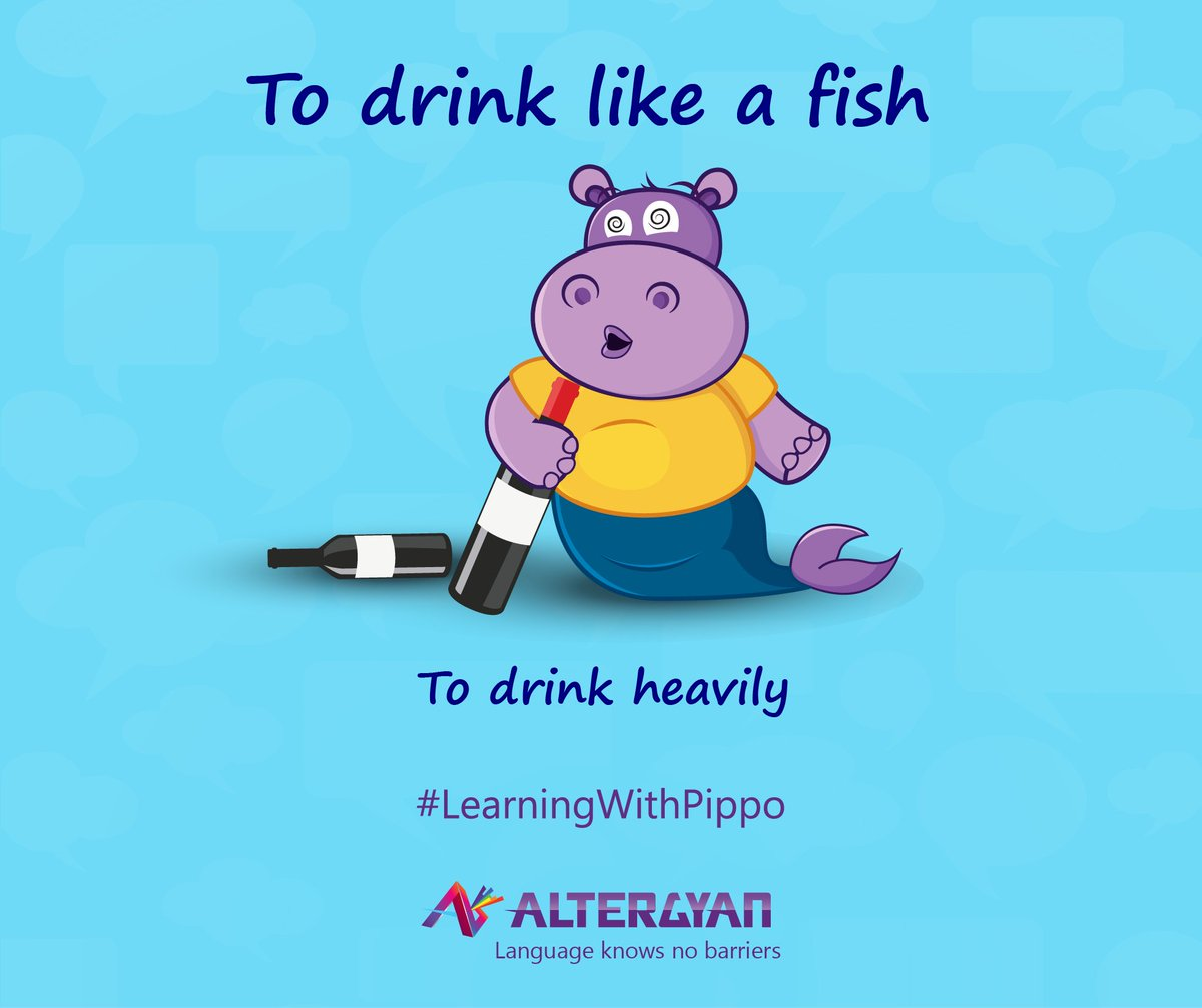 Its #SaturdayNight  you guys! Hit the bar and drink like a fish :) #EnglishIdioms #KnowYourIdioms #Idioms #Vocabulary #LearnEnglishQuickly<br>http://pic.twitter.com/Wrv1y6JsZz