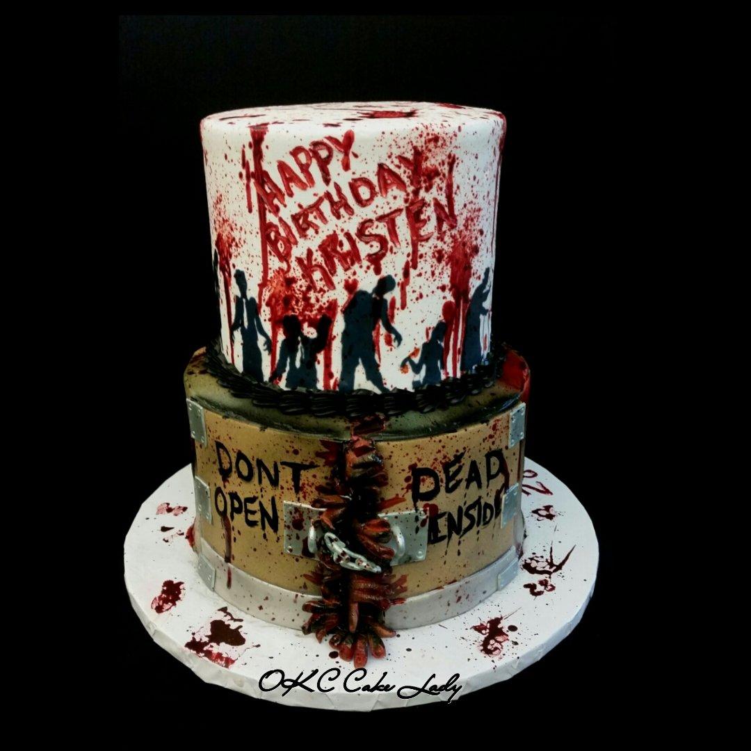 Brilliant Okc Cake Lady On Twitter My Walking Dead Cake Twd Funny Birthday Cards Online Alyptdamsfinfo