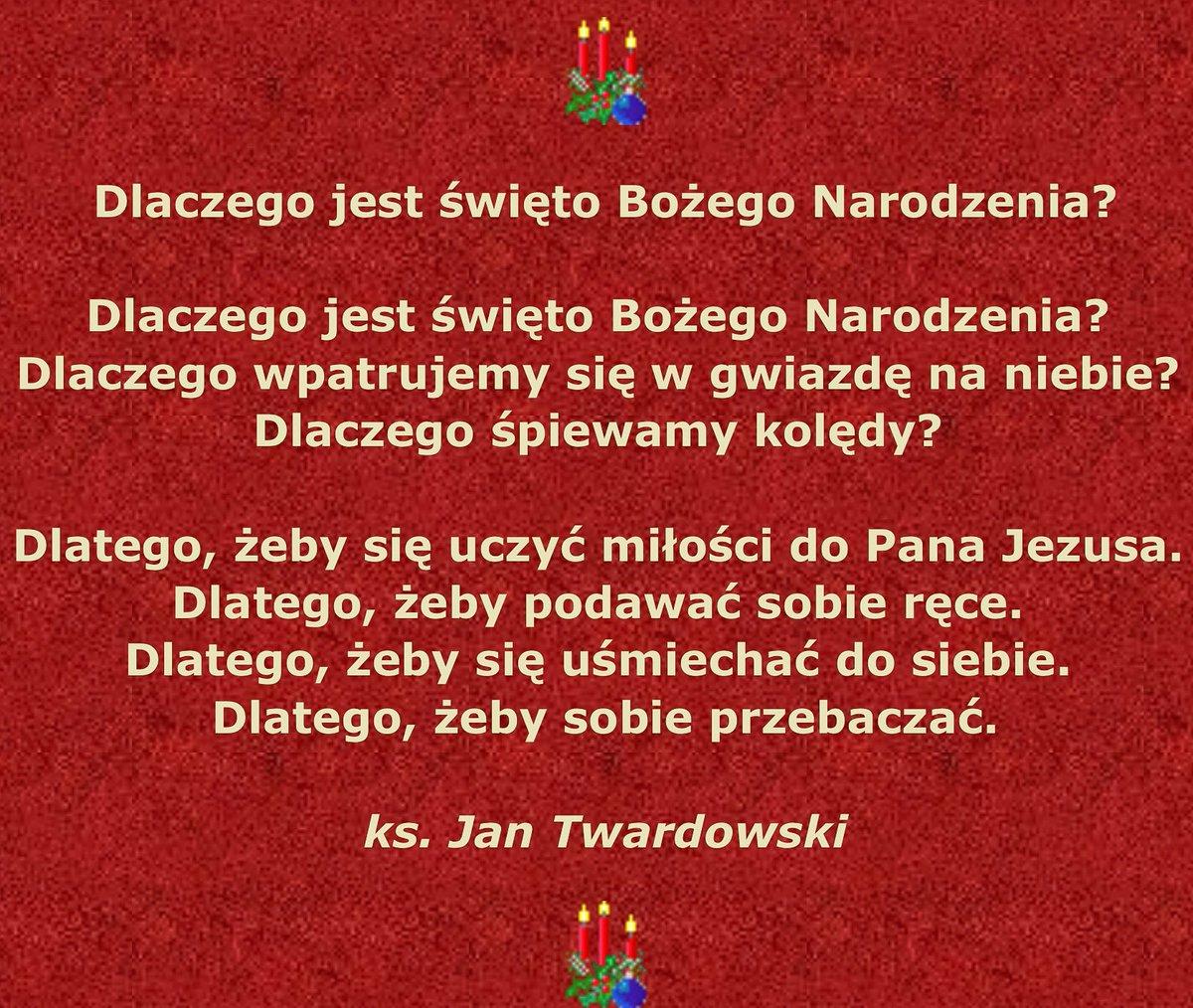 Witold Kabański On Twitter Wierzącym Wiersz Ks Jana